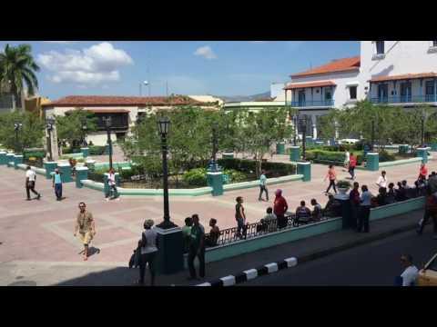 Terrasse Hotel Casa Granda Rundblick über den Plaza Mayor und den Parque Cespedes