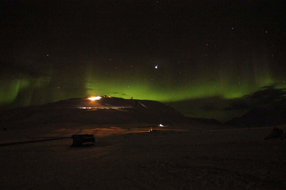 Aurora Borealis Spitzbergen Longyearbyen ©Ines Erlacher