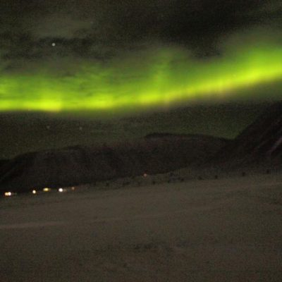Nordlichter Longyearbyen Spitzbergen © Ines Erlacher und Thomas Mussbacher
