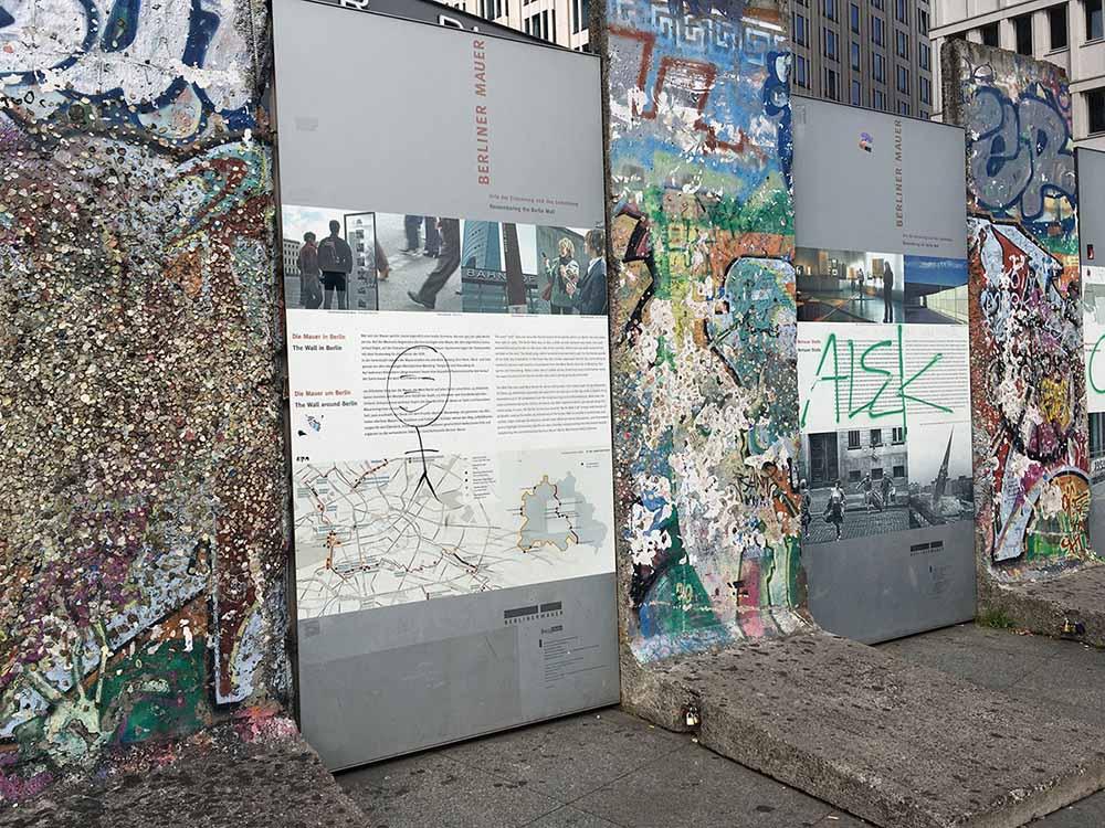 Berliner Mauer Potsdamerplatz © Ines Erlacher und Thomas Mussbacher