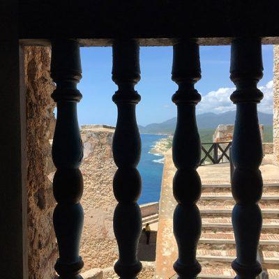 Ausblick vom Castillo San Pedro de la Roca Sehenswertes in Santiago de Cuba - das ursprüngliche Kuba - Reisebericht, Ausflüge und Tipps www.gindeslebens.com