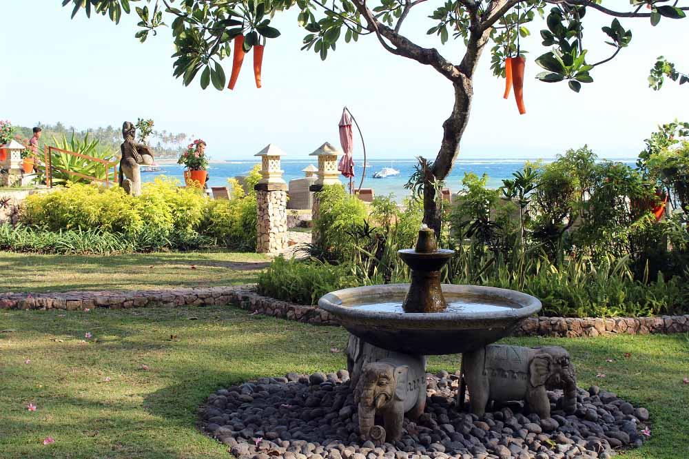 Der Garten des Hotels ist so unglaublich schön.