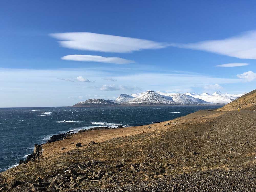 Fjorde Fahrt entlang der Ostküste - Roadtrip Islands Ostküste www.gindeslebens.com © Ines Erlacher und Thomas Mussbacher