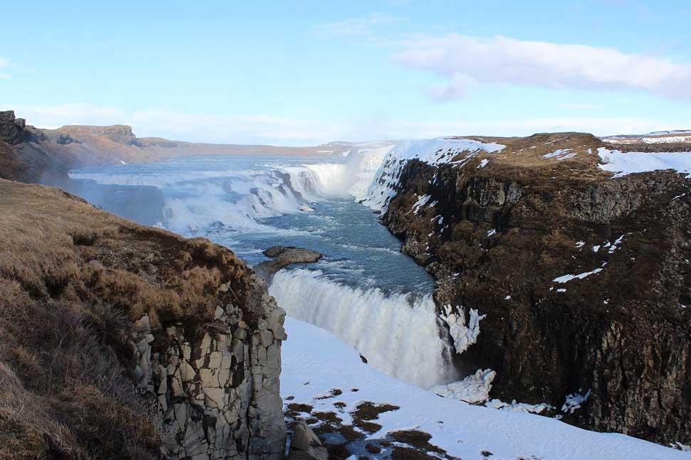 Gullfoss Wasserfall Islands Südwesten und der Golden Circle Roadtrip Island gindeslebens.com © Thomas Mussbacher und Ines Erlacher