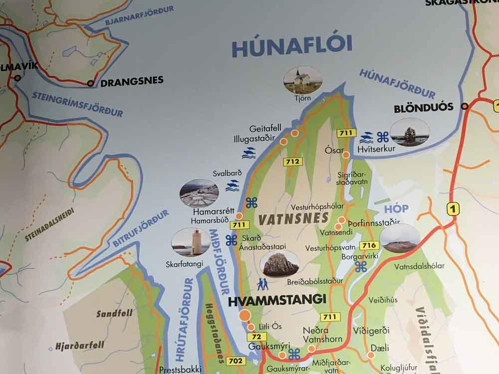 Karte Hvammstangi Selasetur Seal Center Infocenter für Seehundsichtungen Islands Norden Roadtrip Island gindeslebens.com © Thomas Mussbacher und Ines Erlacher