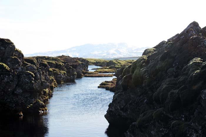 Die Silfra Spalte Silfra Spalte, Þingvellir Nationalpark und Þingvallakirkja Roadtrip Island gindeslebens.com © Thomas Mussbacher und Ines Erlacher