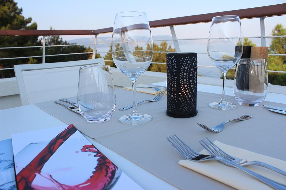 Ausblick von der Terrasse Adults Only Restaurant Valamar Girandella Resort Rabac © www.gindeslebens.com