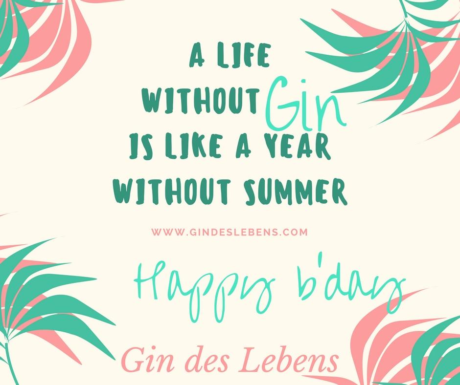 Jahresrückblick 1 Jahr Gin des Lebens