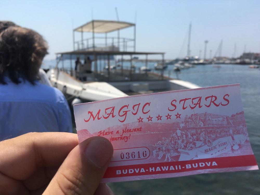 Ticket Hawaii Budva Montenegro www.gindeslebens.com