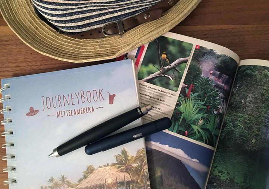 Unser analoges Reisetagebuch mit JourneyBook und LAMY www.gindeslebens.com