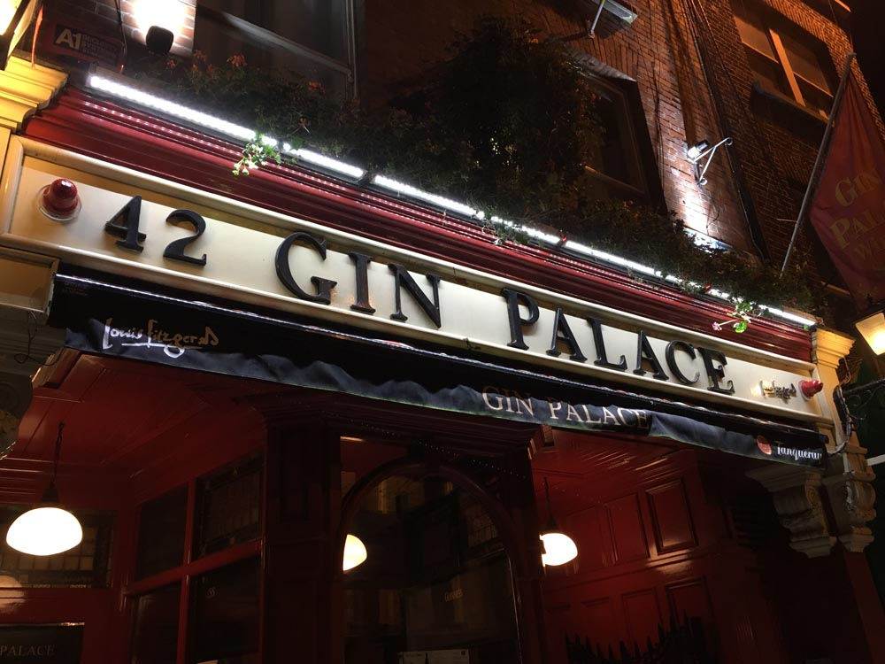 Gin Palace Dublin Irland www.gindeslebens.com
