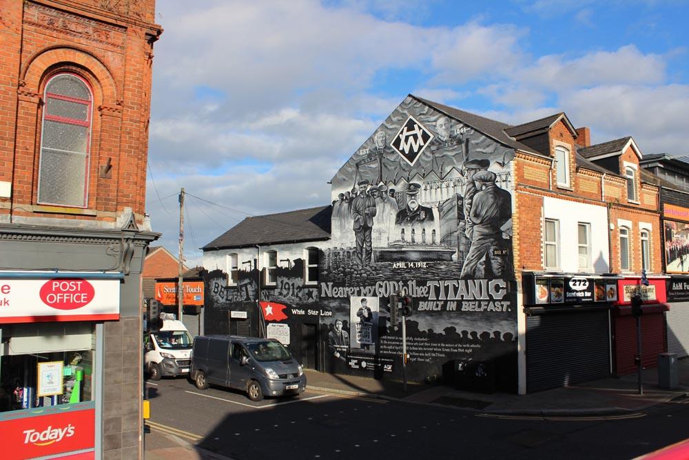 Titanic Mural Murals East Belfast - die Murals im Osten von Belfast www.gindeslebens.com