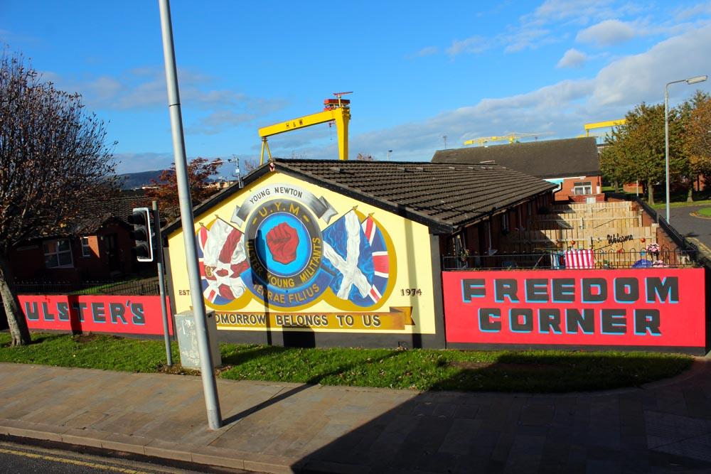 Freedom Corner Murals East Belfast - die Murals im Osten von Belfast www.gindeslebens.com