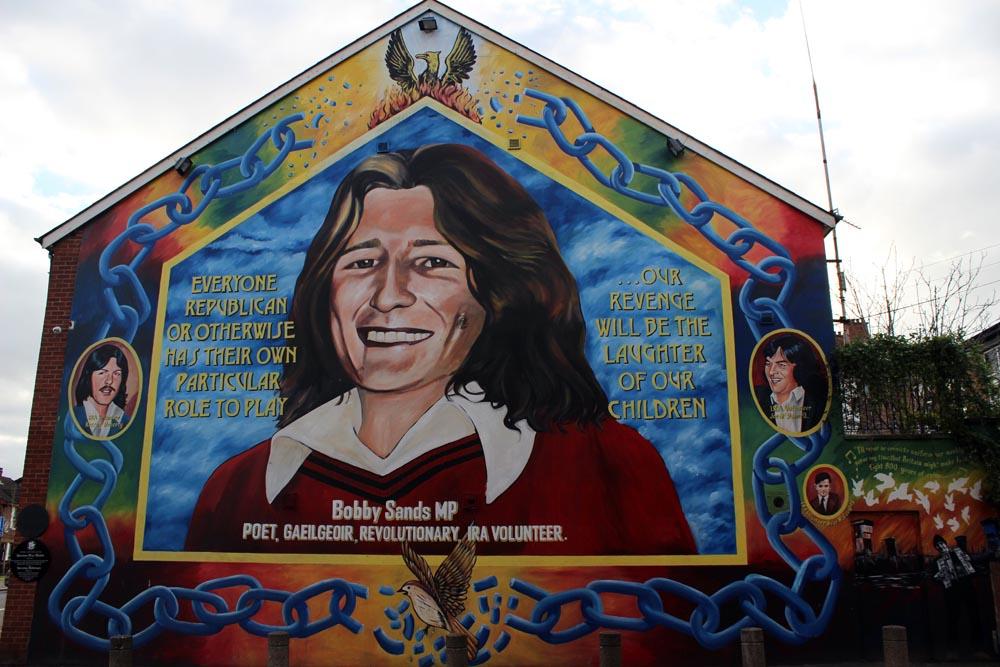 Bobby Sands Mural - Murals West Belfast - die Murals im Westen von Belfast www.gindeslebens.com
