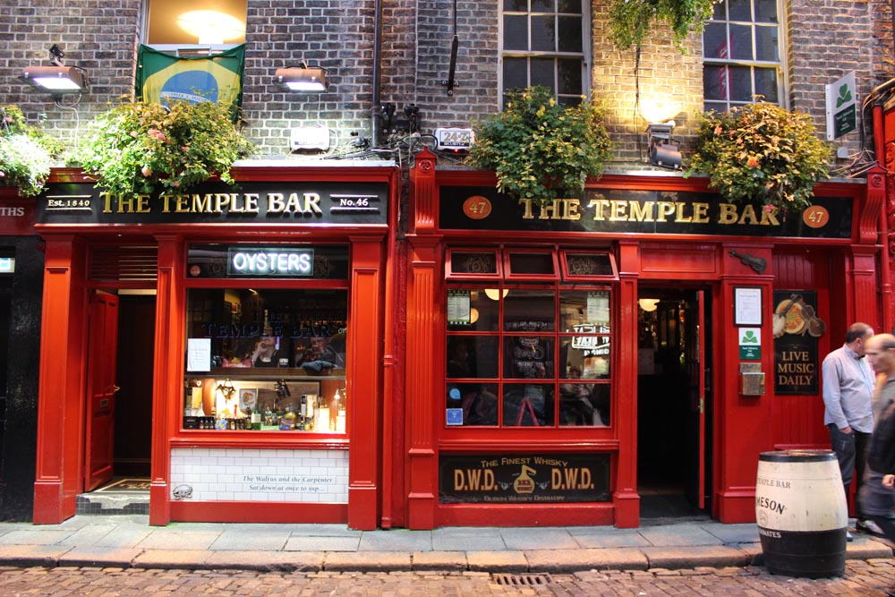 The Temple Bar Dublin Irland www.gindeslebens.com