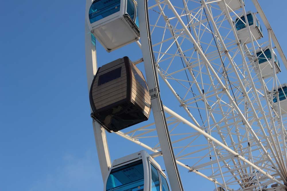 Helsinki Skywheel Riesenrad Sehenswürdigkeiten Helsinki mit der Helsinki Card - Finnland im Winter www.gindeslebens.com