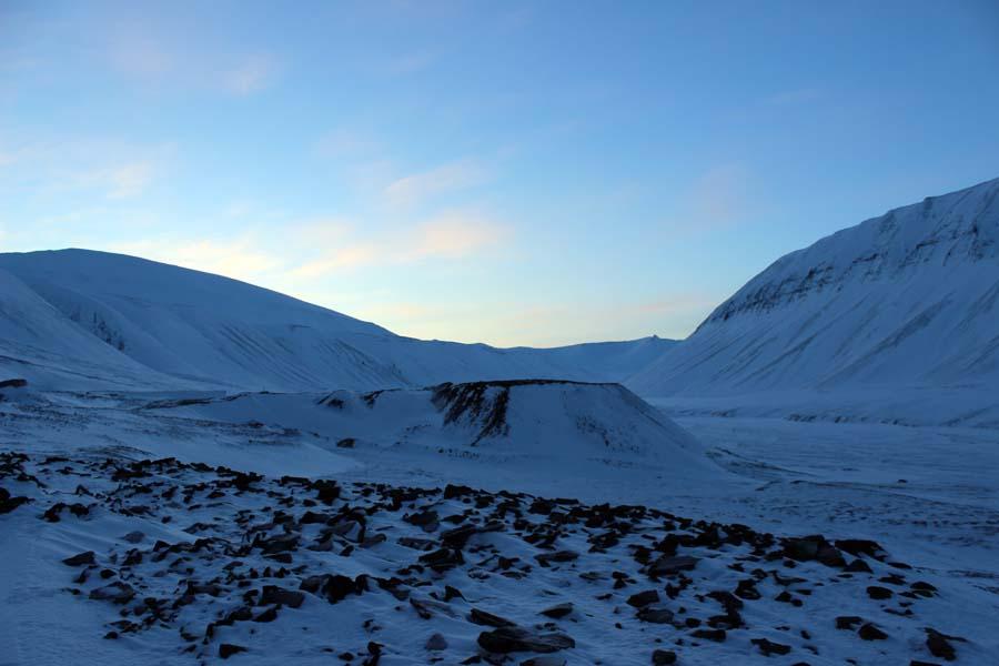 Blick auf das Björndalen Arktis Fototour mit See and Explore www.gindeslebens.com