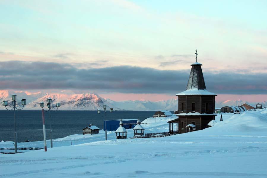 Russisch Orthodoxe Kirche Barentsburg www.gindeslebens.com