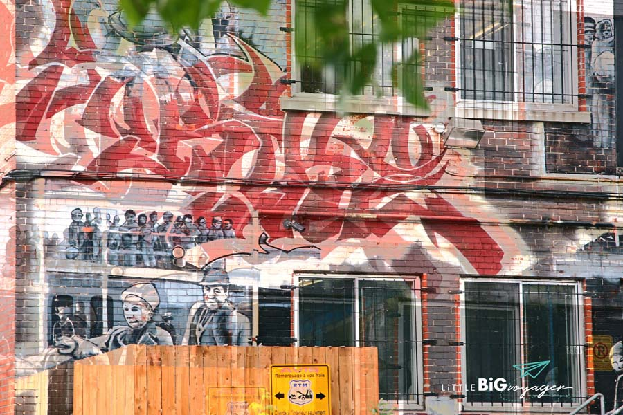 Montreal Streetart © www.littlebigvoyager.com
