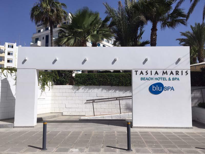Außenansicht Tasia Maris Beach Resort Kurztrip nach Ayia Napa Zypern www.gindeslebens.com