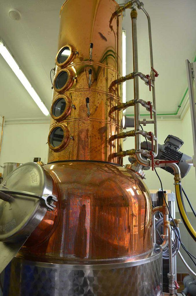 Lomond Still Brennblase © Zeitzer Whisky Manufaktur