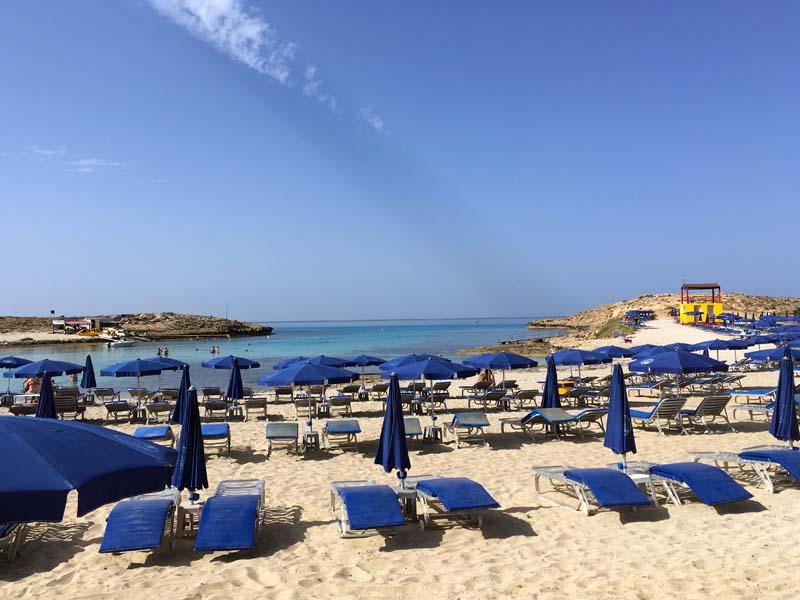 Strand Tasia Maris Beach Resort Kurztrip nach Ayia Napa Zypern www.gindeslebens.com