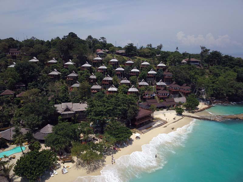 Drohnenaufnahme Phi Phi The Beach Resort www.gindeslebens.com