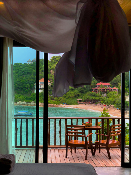 Ausblick Deluxe Ocean View Sai Daeng Resort Koh Tao Thailand www.gindeslebens.com