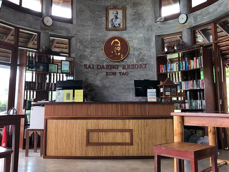 Rezeption und Empfangsbereich Saideng Resort Koh Tao Thailand www.gindeslebens.com