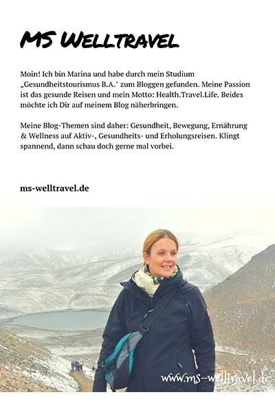 """Moin! Ich bin Marina und habe durch mein Studium """"Gesundheitstourismus B.A."""" zum Bloggen gefunden. Meine Passion ist das gesunde Reisen und mein Motto: Health.Travel.Life. Beides möchte ich Dir auf meinem Blog näherbringen."""