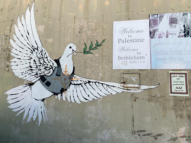 Banksy Mural Bethlehem Palästina www.gindeslebens.com