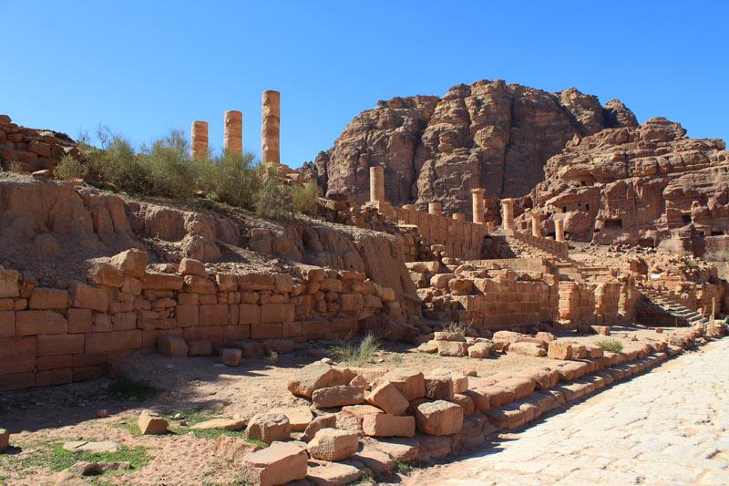 Der große Tempel Petra Jordanien www.gindeslebens.com