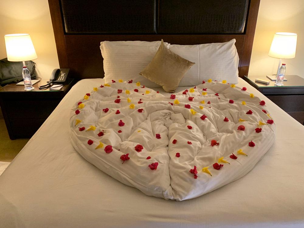 Schlafzimmer Suite Jordanien Hotel Tala Bay Resort Aqaba www.gindeslebens.com