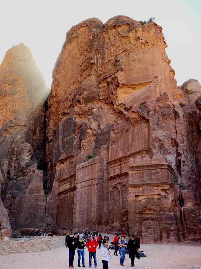 Straße der Fassaden - Street of Facades Petra Jordanien www.gindeslebens.com