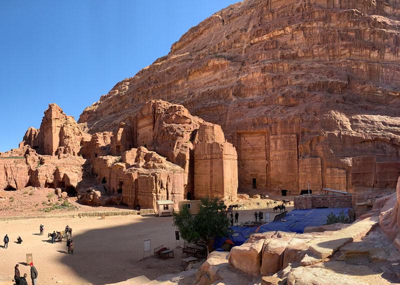 Königsgräber - Royal Tombs Petra Jordanien www.gindeslebens.com