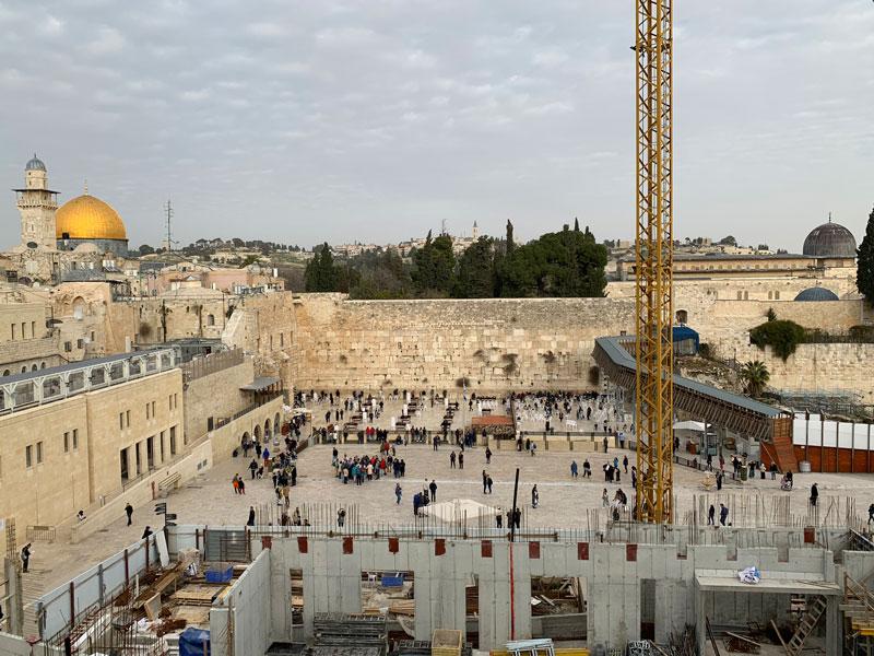 Ausblick auf die Klagemauer, den Felsendom und die Al Aqsa Moschee am Ölberg Jerusalem Israel an einem Tag - Sehenswürdigkeiten, Hotel, Highlights und Tipps www.gindeslebens.com