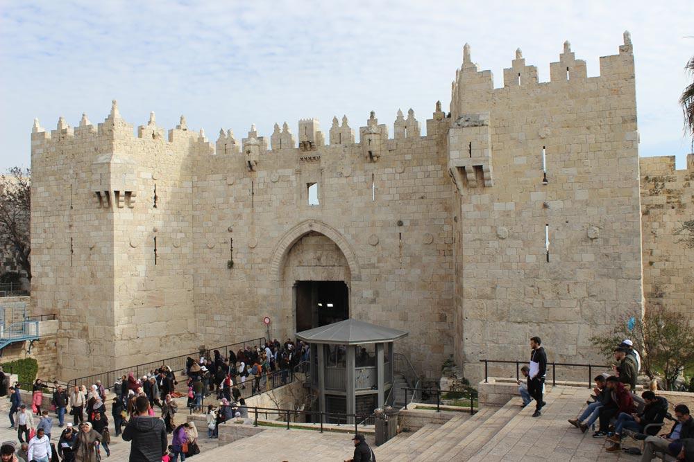 Damskus Gate Jerusalem Israel an einem Tag - Sehenswertes, Hotel, Highlights und Tipps www.gindeslebens.com