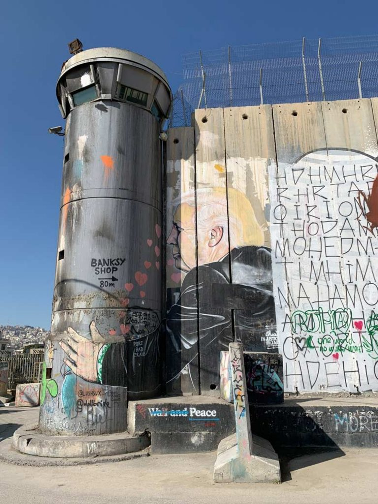 Separation Wall Palästina - Palästina und Israel der Konflikt um das Westjordanland www.gindeslebens.com