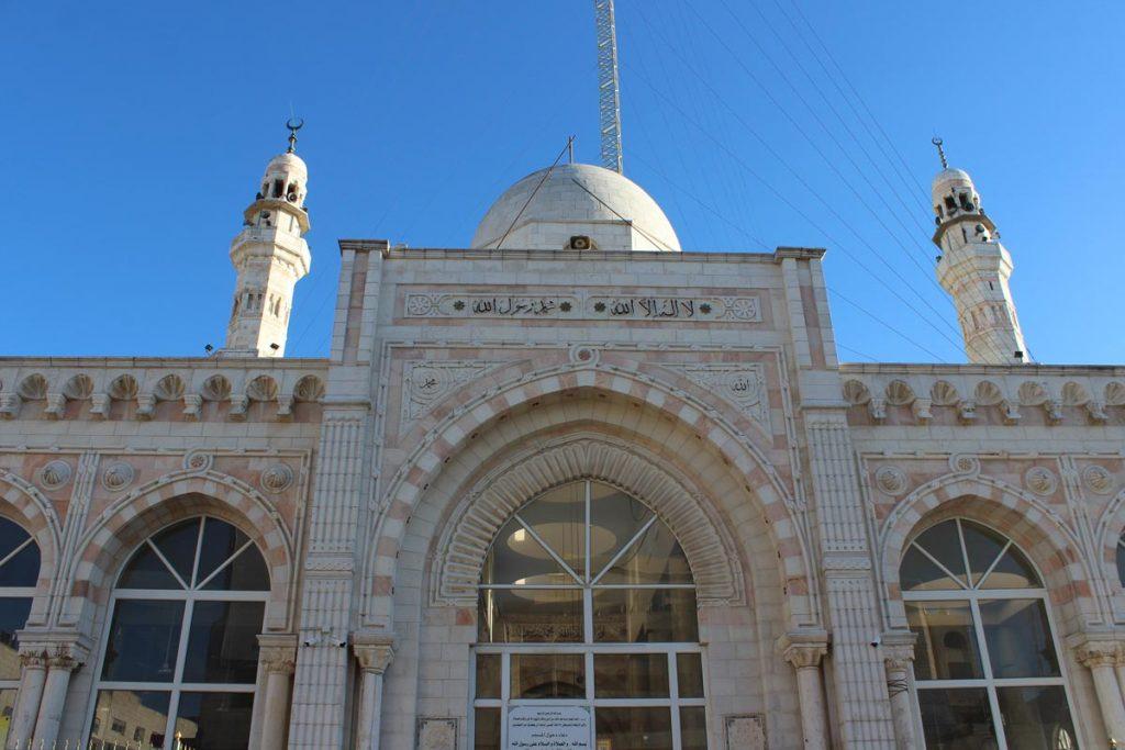 Frontansicht der Jamal Abdel Nasser Mosque (Al Bireh Big Mosque) Ramallah Palästina - Sehenswürdigkeiten www.gindeslebens.com
