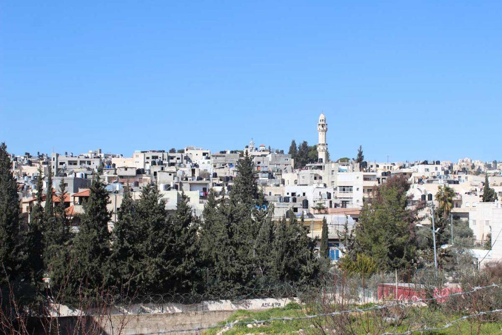 Blick auf das Aida Flüchtlingslager Bethlehem Palästina www.gindeslebens.com