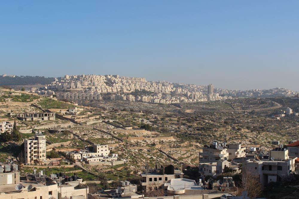 Blick auf Bethlehem Palästina www.gindeslebens.com