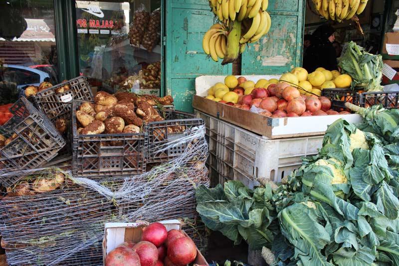 Shop mit Gemüse - Einkaufen in Bethlehem www.gindeslebens.com