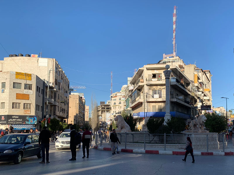 Al-Manara-Platz (Manarah-Square) Ramallah Palästina - Sehenswürdigkeiten www.gindeslebens.com