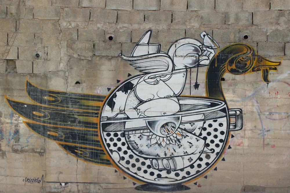 Bethlehem Streetart und Murals in Palaestina www.gindeslebens.com