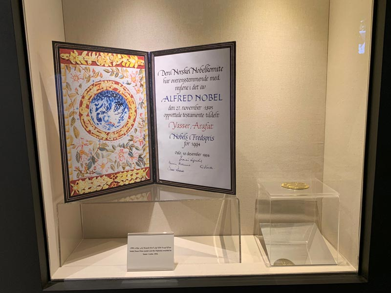 Friedensnobelpreis 1994 für den Palästinenserführer Arafat www.gindeslebens.com