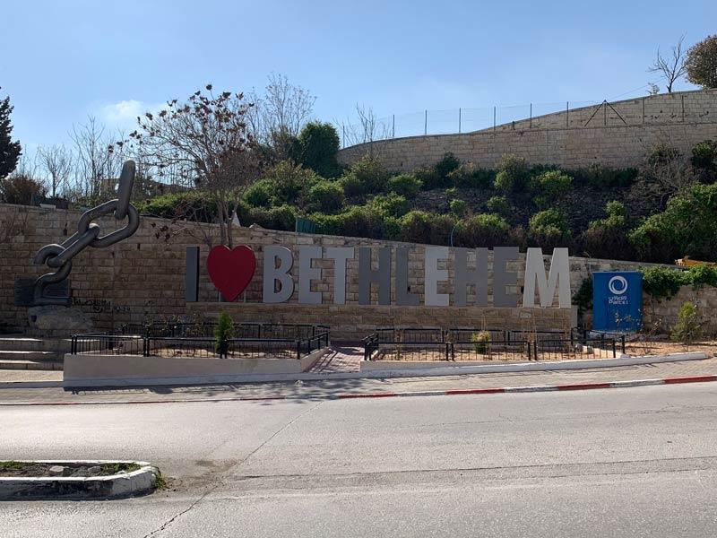 Schriftzug I Love Bethlehem www.gindeslebens.com