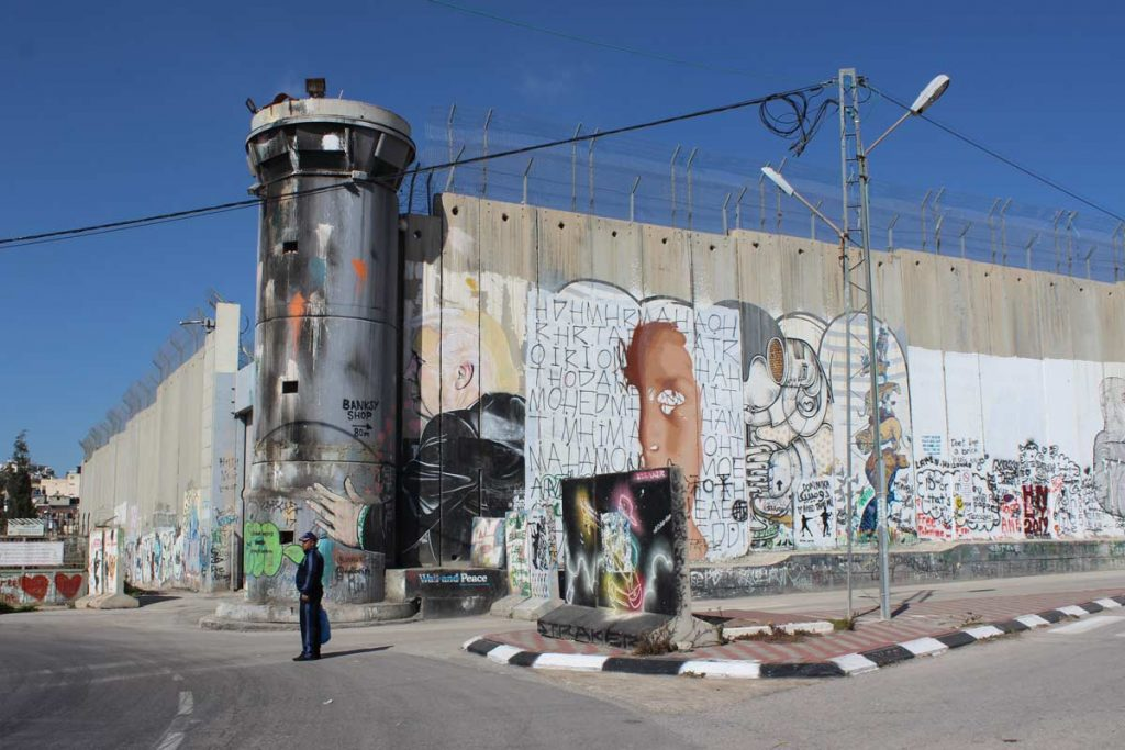 Separation Wall Bethlehem Aida Flüchtlingslager Bethlehem Palästina www.gindeslebens.com