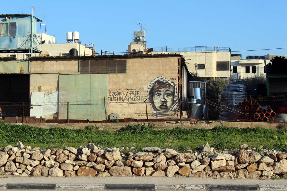 Streetart und Murals in Bethlehem Palästina www.gindeslebens.com
