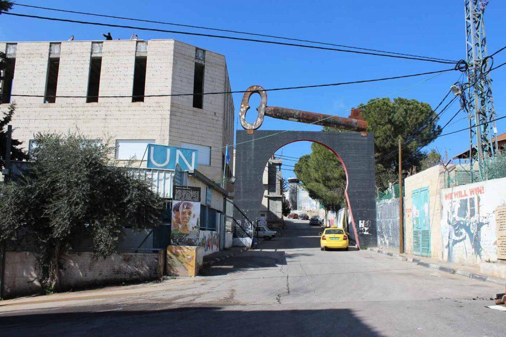 UN Stützpunkt im Aida Flüchtlingslager Bethlehem Palästina www.gindeslebens.com