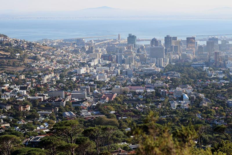 Blick auf Kapstadt Südafrika www.gindeslebens.com
